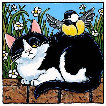 Annoyed Cat & Pesky Bird by LisaMarieArt