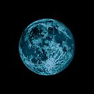 Blue Moon Lunar Design Illustration  by Jim Plaxco
