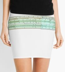 slide rule on white background Mini Skirt