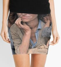 Colorized  - Migrant Mother by Dorothea Lange Mini Skirt