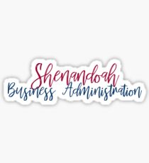 Shenandoah University Business Administration  Sticker