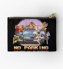 No Parking Violators will be Destroyed Studio Pouch