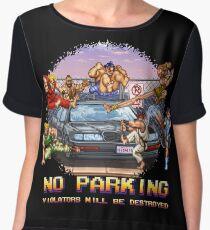 No Parking Violators will be Destroyed Chiffon Top