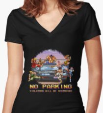 No Parking Violators will be Destroyed Women's Fitted V-Neck T-Shirt