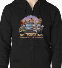No Parking Violators will be Destroyed Zipped Hoodie