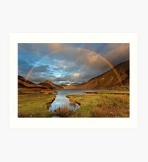 Wasdale and Wastwater Rainbow in the English Lake District Art Print