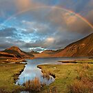 Wasdale and Wastwater Rainbow in the English Lake District by Martin Lawrence