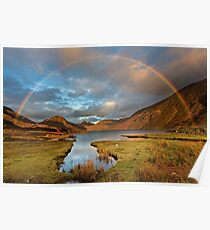 Wasdale and Wastwater Rainbow in the English Lake District Poster