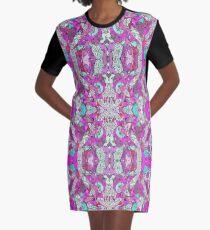 Bohemian Serenity Doodle Graphic T-Shirt Dress