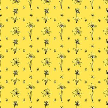 Patrón de flor simple de skinnyginny