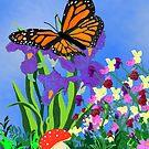 Ms. Hairry- Monarch Butterfly by EllieLieberman