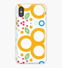 colorful circle rings creative seamless repeat pattern iPhone Case