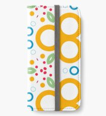 colorful circle rings creative seamless repeat pattern iPhone Wallet/Case/Skin