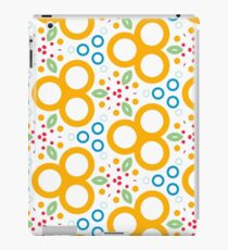 colorful circle rings creative seamless repeat pattern iPad Case/Skin