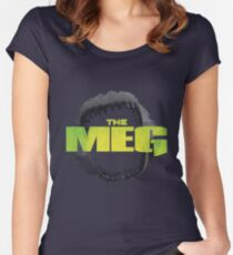 THE MEG - MOVIE - MEGALODON Women's Fitted Scoop T-Shirt