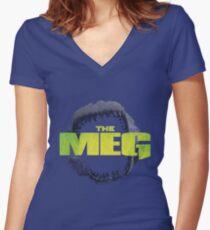 THE MEG - MOVIE - MEGALODON Women's Fitted V-Neck T-Shirt