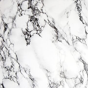Classic white faux marble by artonwear