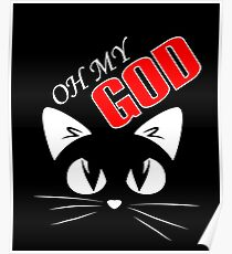Katzen-T-Shirt - OH MEIN GOTT Poster