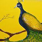Petulant Peacock  by Angela  Mitchell