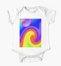 Abstract, The Wavy One Piece - Short Sleeve