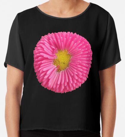 eine tolle Sommer Blume in der Farbe pink, rosa,  Chiffontop