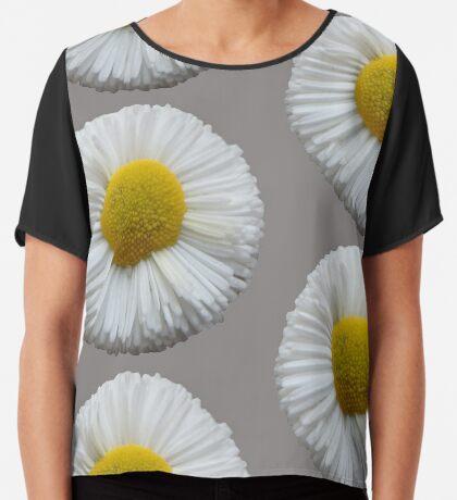schöne Sommer Blume in der Farbe weiß Chiffontop für Frauen