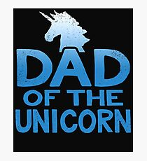 Dad of the Unicorn Father's Day Gift Photographic Print