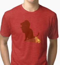 Funny Lion Cat Lannister Tshirt - Cat Gifts for Cat Lovers Tri-blend T-Shirt
