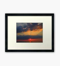 Cornwall: Rays of Light Framed Print