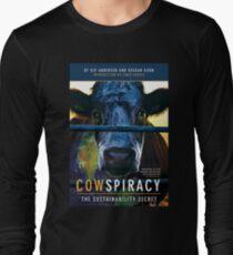 Cow spiracy poster Long Sleeve T-Shirt
