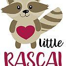 Little Rascal Cute Baby Raccoon by SamAnnDesigns