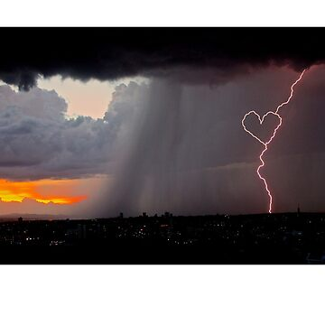 Lightning strike with heart by saintofK