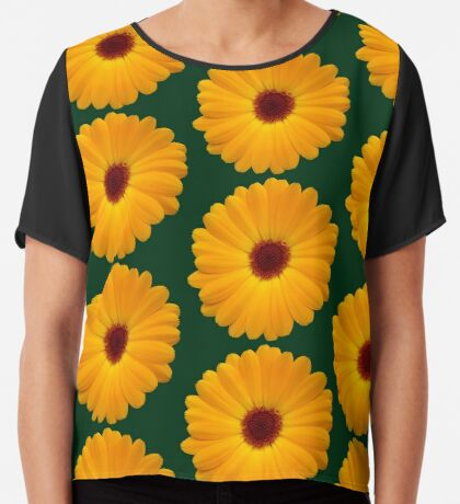 tolle Blume in der Farbe gelb, Blüte, Sommer Chiffontop
