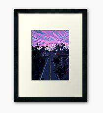 Pixel Suburbia Framed Print