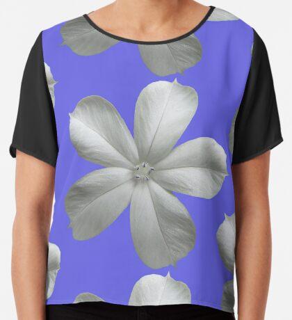 zauberhafte weiße Blüte, Blume, Sommer, Natur Chiffontop