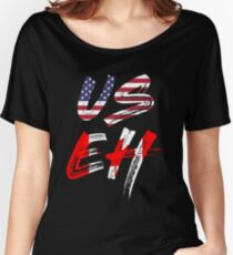 USEH America Canada Flag Funny American Canadian Women's Relaxed Fit T-Shirt