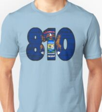 LOVE THAT  810 LIFE - YOUR FAVORITE AREA CODE WITH A HEAVY WOOD OVERLAY DISTRESS Unisex T-Shirt
