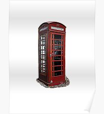 English / London telephone booth Poster