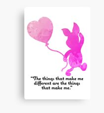 Quote Inspired Silhouette Canvas Print
