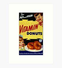 Vitamin Donuts Art Print