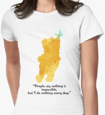 Quote Inspired Silhouette Women's Fitted T-Shirt