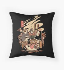 Ramen pool party Throw Pillow