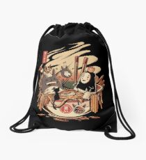 Ramen pool party Drawstring Bag