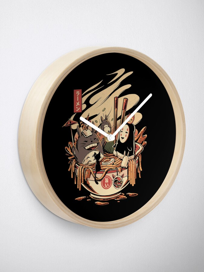 Alternate view of Ramen pool party Clock