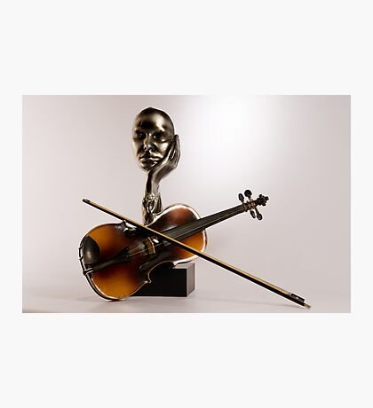 One Handed Fiddle Player Photographic Print