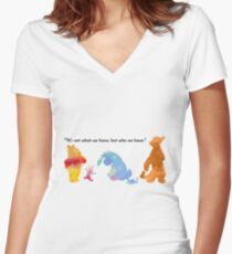 Quote Inspired Silhouette Women's Fitted V-Neck T-Shirt
