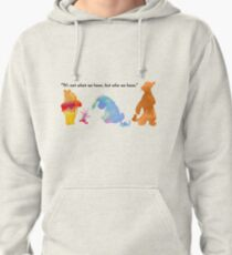 Quote Inspired Silhouette Pullover Hoodie