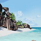 Tropical Beach by Yuliya Art