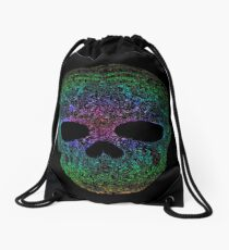 Rainbow skull Drawstring Bag