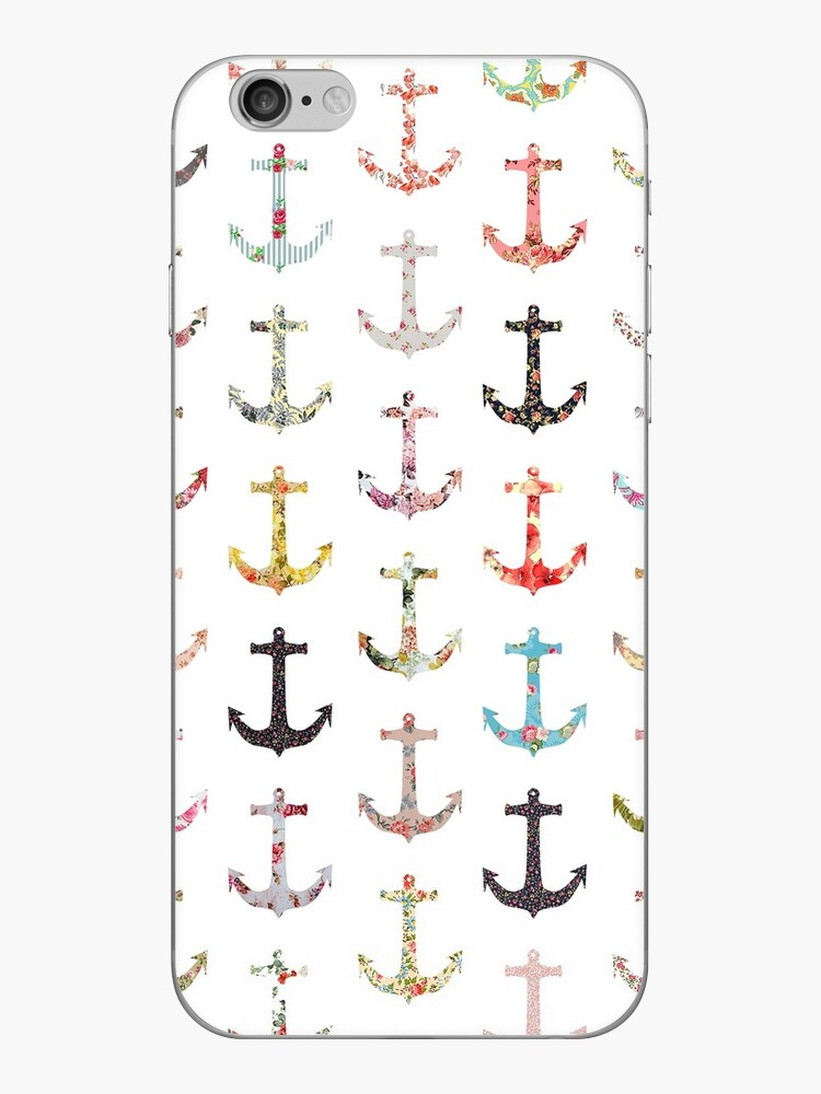 Vintage retro sailor girly floral nautical anchors by GirlyTrend